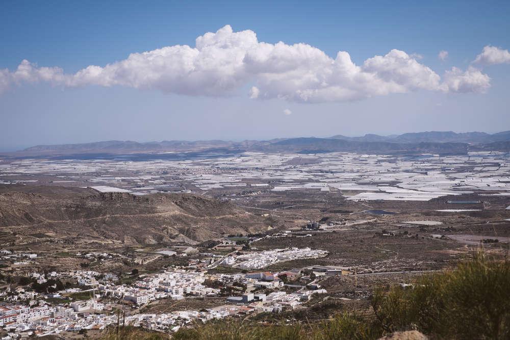El Ejido, en Almería, un mar de plástico